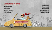 Driving Teacher Business Card Template